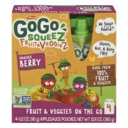 GoGo Squeez Fruit & Veggiez Boulder Berry Applesauce Pouches