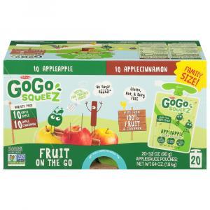 GoGo Squeez Apple Apple/Apple Cinnamon Variety Applesauce