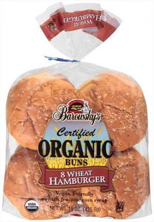 Barowsky's Organic Wheat Hamburger Buns