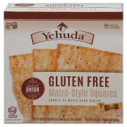Yehuda Matzo Squares Toasted Onion Gluten Free