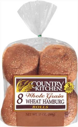 Country Kitchen Whole Grain Hamburger Buns