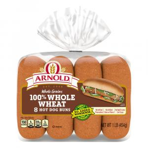 Arnold Wheat Hot Dog Buns