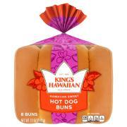 Kings Hawaiian Sweet Hot Dog Buns
