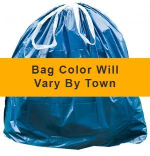 Town of Sanford Small DS 8-Gallon Orange Trash Bags