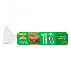 Arnold 100% Whole Wheat Flax and Fiber Sandwich Thins