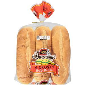 """Barowsky's Crusty 8"""" Sub Rolls"""