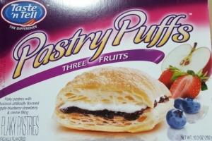 Taste'n Tell Three Fruits Pastry Puffs