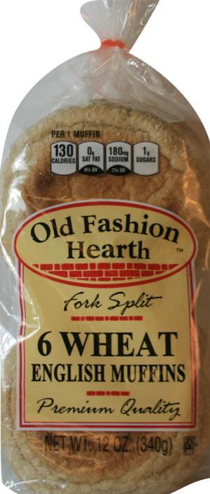 Old Fashion Hearth Wheat English Muffin