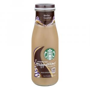 Starbuck's Frappuccino Mocha Coconut Chilled Coffee Drink