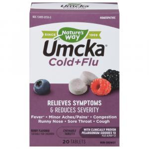 Nature's Way Umcka Cold + Flu Berry Chew