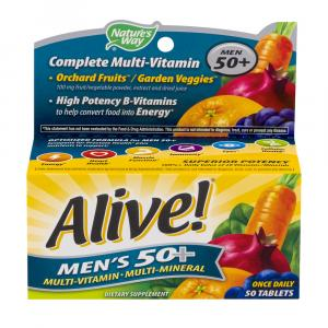 Nature's Way Alive! Men's 50+ Multi Vitamin Tablets