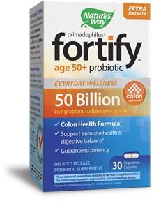 Fortify Age 50+ Probiotic Supplement Capsules
