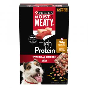 Purina Moist & Meaty High Protein Real Beef & Chicken
