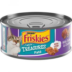 Friskies Tasty Treasures Pate Turkey & Chicken Cheese Dinner