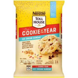 Nestle Toll House Cookie Of The Year Ice Cream Sundae Cookie