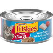 Friskies Prime Fillets Whitefish & Tuna Canned Cat Food