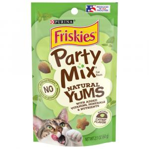 Friskies Party Mix Natural Yums Catnip