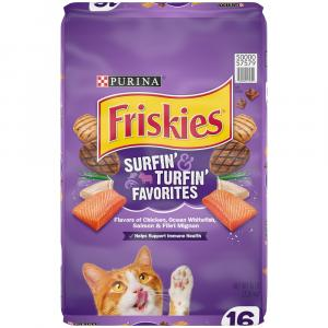 Friskies Surf & Turf Favorites Dry Cat Food