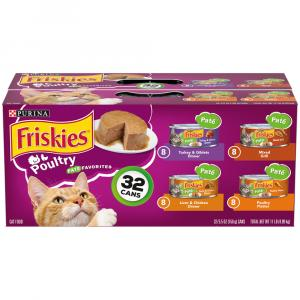 Friskies Classic Pate Poultry Variety Canned Cat Food