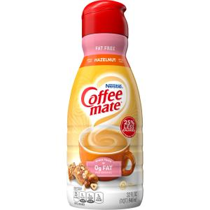 Nestle Coffee-mate Fat Free Hazelnut Non-dairy Creamer