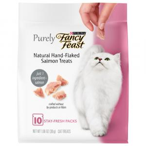 Purely Fancy Feast Treats With Real Salmon