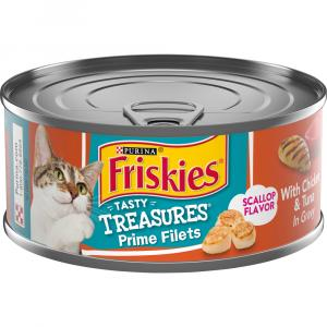 Friskies Tasty Treasures with Chicken, Tuna & Cheese