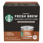 Starbucks Fresh Brew Pike Place Ground Coffee Cans