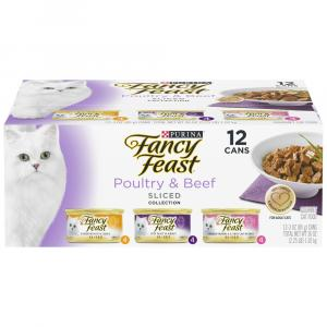 Fancy Feast Slices Three Flavor Meat Variety Pack