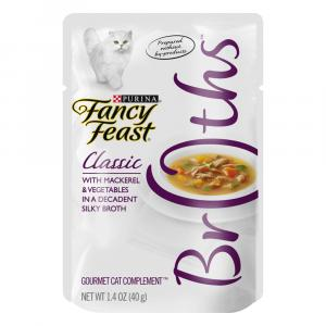 Fancy Feast Broths Classic Mackeral & Vegetables