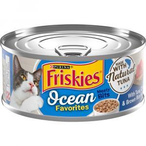 Friskies Ocean Favorites Meaty Bits with Tuna, Crab & Brown