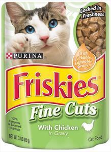 Friskies Fine Cuts Chicken Pouch Cat Food