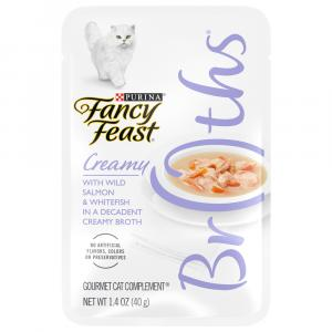 Fancy Feast Broths Creamy Wild Salmon and Whitefish