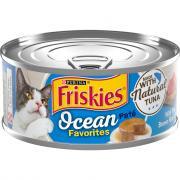 Friskies Ocean Favorites Meaty Bits with Tuna,Brown Rice &