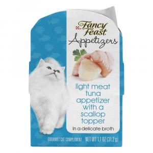 Fancy Feast Appetizers Light Meat Tuna With Scallop Topper