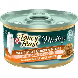 Fancy Feast Medleys White Meat chicken with Garden Veggies