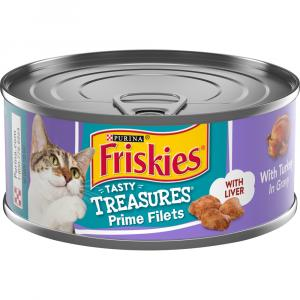 Friskies Tasty Treasures with Turkey in Gravy with Liver
