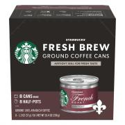 Starbucks Fresh Brew French Roast Ground Coffee Cans