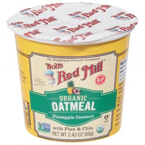 Bobs Red Mill Organic Gluten Free Oatmeal Pineapple Coconut