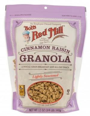 Bob's Red Mill Cinnamon Raisin Granola Lightly Sweetened