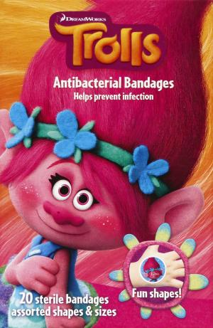 Trolls Licensed Antibacterial Bandages
