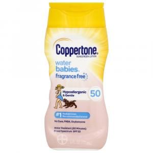 Coppertone Water Babies Pure and Simple Free Lot SPF 50