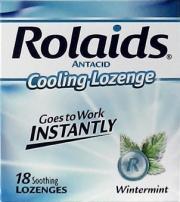 Rolaids Antacid Heartburn Soothers Wintermint Lozenges