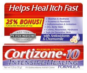 Cortizone Intensive Healing Cream Bonus