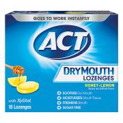 Act Dry Mouth Lozenge Honey Lemon