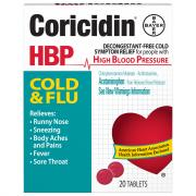Coricidin High Blood Pressure Cold and Flu Tablet