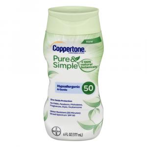 Coppertone Pure&Simple SPF 50 Lotion