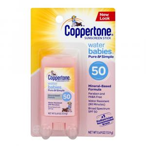 Coppertone Water Babies Pure & Simple SPF 50 Sunscreen Stick