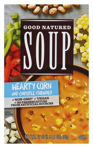 Good Natured Soup Hearty Corn And Chipotle Chowder