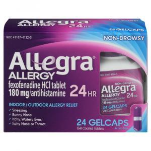 Allegra Allergy 24 Hour Gel Coated Tablets