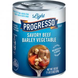Progresso Light Savory Beef Barley Vegetable Soup